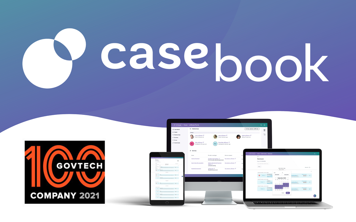 Casebook PBC Named a 2021 GovTech 100 Company by Government Technology