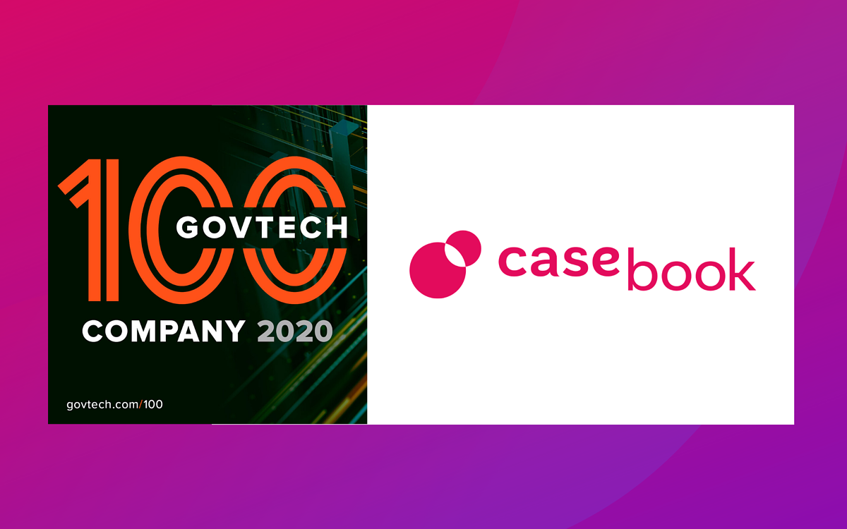 Government Technology Magazine Names Casebook PBC a GovTech 100 company for 2020