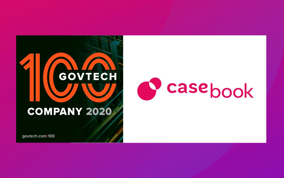 Casebook PBC named GovTech 100 company